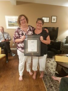 Beth Garrish receiving the Royal LePage Diamond Award for sales in2017