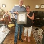 Brian Wensley receiving the Royal LePage Director's Platinum Award for sales in 2017